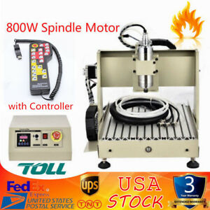 4axis 800w Cnc 3040 Router Engraver Machine Water cooling Drill Cutter handwheel