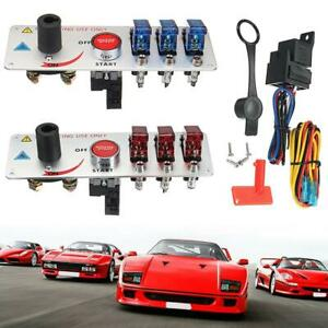 12v Auto Led Toggle Ignition Switch Panel Racing Car Engine Start Push Set Kit