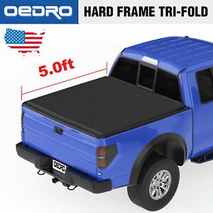 Oedro Tri Fold Truck Bed Tonneau Cover Compatible With 2016 2019 Toyota Tacoma