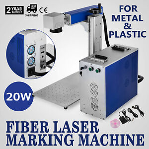 20w Fiber Laser Marking Machine Metal Engraver 100 000 Hours Air Cooling