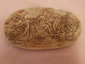 Stunning Classical Lady Horse Theme Grand Tour Intaglio Gem Wall Decor Plaque