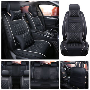 Us Car Seat Cover Cushions 5 Seats Suv Front Rear Protective Mat Full Accesories