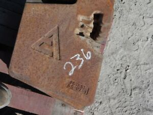 Allis chalmers Tractor Front Suitcase Weight 100 Lb Tag 236