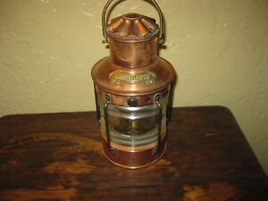 Ankerlight Copper Ship S Oil Lamp Made In Holland