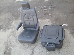 New Unused Black Leather 2 Bucket Seats Jeep Truck Van Bus Rv Hotrod Classic Car