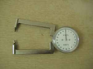 Optician 0 20mm 0 05mm Thickness Dial Caliper Gauge Gage Made In Germany Used