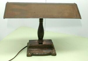 Vintage Art Brass Bankers Desk Piano Lamp Antique Style Updated With Led Lights