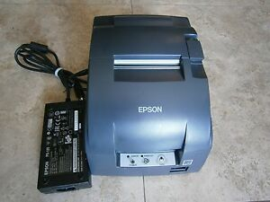 Epson Tm u220b Receipt Printer 10 100 M188b With Power Supply 14 Day Warr
