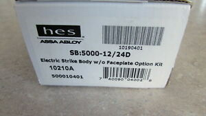 Hes 5000 5000 12 24d Electric Strike W o Faceplate Sealed Nib 60 Day Returns
