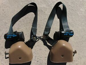1996 98 Ford Mustang Convertible Tan Front Seat Belts Lh Rh Both Sides Tested
