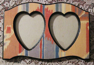 Double Heart Vintage Picture Frame 4 5 X8 Opening
