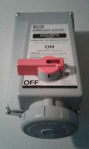 New Hubbell 460mi5w 60 Amp 600 Volt Circuit Lock Pin And Sleeve Recepticle