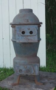 Antique Railroad Caboose Wood And Coal Burning Stove Sn337 Preppers
