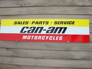 New Can Am Motorcycle Dealer Service 4 Color Sign Speed Parts Garage Art1 X46