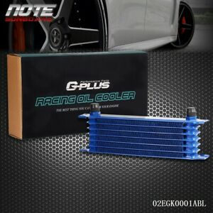 7 Row 10 An Blue Powder Coated Aluminum Engine Transmission Racing Oil Cooler