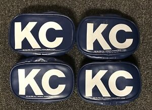 Vintage Nos Kc Hilites 5502 Blue Rectangle Light Covers Set Of 4 New