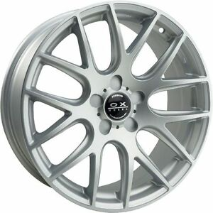 Set Of 4 Ox111 18x8 Ox Wheels Hyper Silver Style Rims With A Set Of Lug Nuts