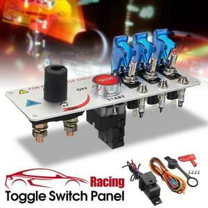 12v Auto Led Toggle Ignition Switch Panel Racing Car Engine Start Push Set Dh