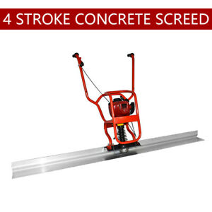 4 Stroke Gas Power Concrete Surface Vibratory Leveling Screed 6 56 Tamper Blade