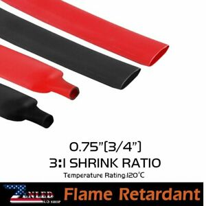 15ft each Polyolefin Heat Shrinking Tubing Stick Lined Assortment Wire Marking