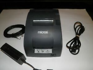 Micros Epson Model Tm u220b Receipt Printer M188b Ethernet W Power Supply