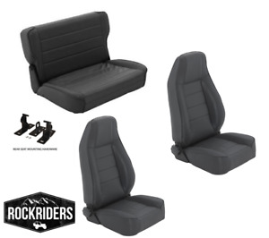 pre order 1976 1995 Jeep Wrangler Cj7 Reclining Front And Rear Seat Combo Kit