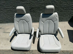 New Takeouts Leather 2 Bucket Seats Jeep Truck Van Bus Rv Hotrod Classic Car 2
