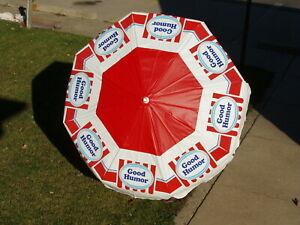 Vintage Good Humor Ice Cream Umbrella For Push Carts Or Patio 6 Ft New In Box
