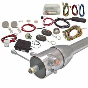 One Touch Engine Start Kit W Rfid Column Insert Remote Red Hot Rod Muscle Car