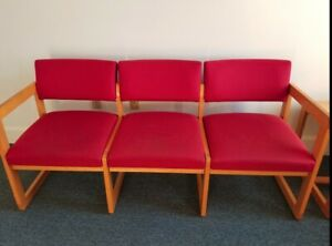 Entire Office Waiting Room Furniture 3 2 Seat Sofas 2 Chairs Oak Table