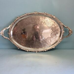 Sterling Silver Two Handled Tray London 1807 29 75