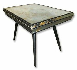 Mid Century Side End Accent Mirrored Mid Century Side Table Paul Mccobb Like