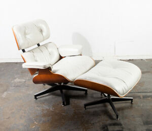 Mid Century Modern Lounge Chair Eames Herman Miller White 670 671 Authentic Mcm