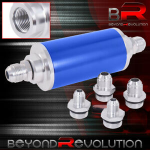Universal Racing Aluminum High Flow Fuel Filter N A Turbo Super Charger Blue