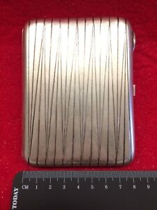 Antique Russian Sterling Silver Cigarette Case