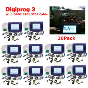 10 Packs Car Odometer Correction Digiprog Iii Obd2 Cable Digiprog3 V4 94 Kit Us