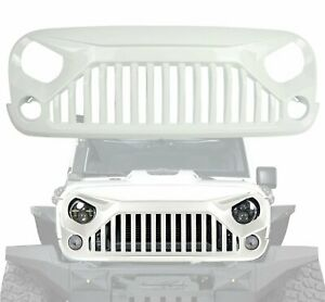 White Front Grille Bumper Guard Grill Grid For Jeep Wrangler Jk 2007 2018
