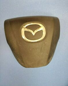 2010 2011 2012 2013 Mazda 3 Left Side Wheel Airbag With Audio Control Black