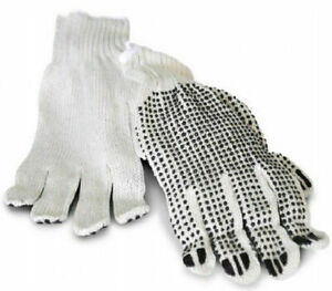 228 Pairs Pvc Single Dotted Industrial Work Gloves Women s Size