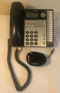 At t 1070 4 Line Small Business System Black Corded Desk Office Phone