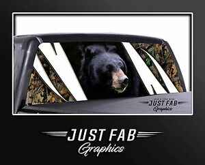 Bear Camo Rear Window Perf Graphic Decal Tint Truck Sticker Chevy Ford Dodge