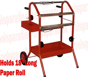 Auto Body Paint Masking Paper Roll Dispenser Spray Gun Towel Holder Station Cart