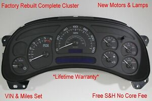 3a 05 06 2005 2006 Custom Black Chevy Complete Instrument Cluster Speedometer