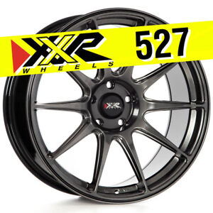 Xxr 527 19x8 75 5x114 3 38 Chromium Black Wheels Set Of 4