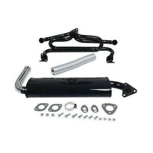Volkswagen Beetle Karmann Ghia Empi Exhaust System Kit Single Tailpipe Chrome