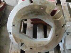 International Harvester Tractor Whole Circle Wheel Weight 125 Lb Tag 127
