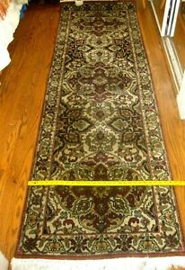 29 X 6 23 Hand Knotted Tribal 100 Wool Rug Runner Great Condition