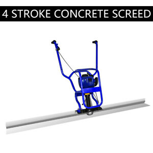 Updated 37 7cc 4 Stroke Gas Concrete Wet Screed Power Screed Cement 2m Board