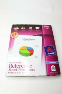 Pack 4 Avery Top load Poly Sheet Protectors Gauge Letter Nonglare 100 ct 74102