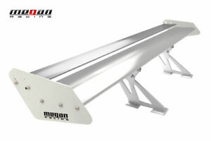 Megan Universal Aluminum Gt Trunk Spoiler Wing Silver Plates With Silver Decks